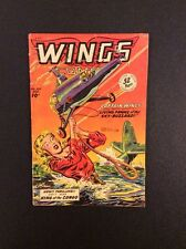 WINGS #100 Golden Age Comic Book Fiction House 1948 F-VF Bob Lubbers War Story