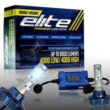 2x ELITE 4000LM LED Motorcycle Headlight Conversion Kit 6000K 6K White Bulb - H7