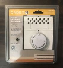 cadet white programmable thermostats ebaycadet single pole electric baseboard mount mechanical thermostat in white btf1w