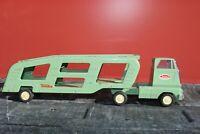 Tonka Car Carrier Transport Semi Truck - Pressed Steel - 1960s Toronto Canada
