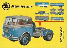 Skoda 706 RTTN Tractor Unit c1963 UK Market Single Sheet Sales Brochure
