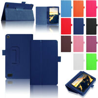 For Amazon Kindle Fire HD 8 2018 8th Gen Magnetic Leather Smart Case Stand Cover