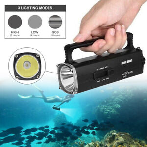 Powerful Diving L2 LED Flashlight Rechargeable IPX8 Torch Scuba Underwater 100m