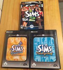 Die Sims 2, Sims Urlaub und Sims Tierisch gut drauf, 3 DVD