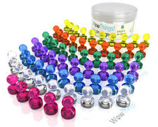 65 Pack Strong Neodymium Color Magnetic Push Pins for home & office, classr