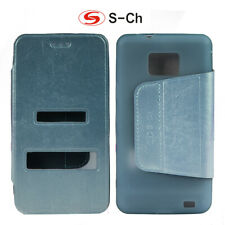For Samsung Galaxy S2 Plus I9100 i9105 Phone Case double window Fashion Leather