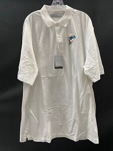MIAMI DOLPHINS TEAM ISSUED BRAND NEW WHITE GREG NORMAN POLO SIZE XXL