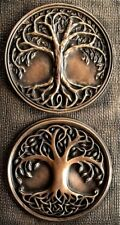 Tree of life Celtic Pagan Knotwork Yggdrasill Bronze Wall Hanging Sculpture Art