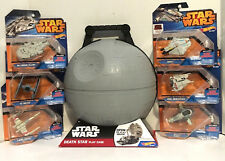 STAR WARS Rebels Hot Wheels Collection - 6 Vehicles with Death Star Play Case