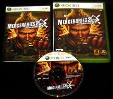 MERCENARIES 2 INFERNO DI FUOCO XBOX 360 Versione Italiana 1ª Edizione • COMPLETO
