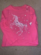 Gap Girls XS (4/5) Star Unicorn Pink Long Sleeve Shirt GT-55