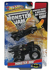 HOT WHEELS: MONSTER JAM MONSTER DUO: 1989 BATMOBILE & BATMAN MONSTER TRUCK 1:64