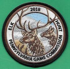 """Pa Pennsylvania Game Fish Commission NEW 4"""" 2018 Elk Hunt Hunting Cloth Patch"""