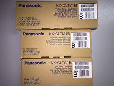3x Panasonic KX-CLTM1B /KX-CLTC1B / KX-CLTY1B Toner Panasonic KX-CL500 Series