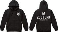 Zoo York - Mens Zipped Hoodie Hoody with Pouch Skate Established 1993 - Black