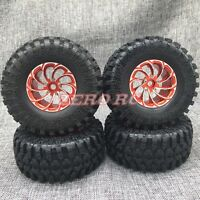 1/10 AXIAL WRAITH Rims Wheel METAL 2.2 ROCK CRAWLER BEADLOCK Wheels + Tires (4)