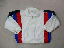 VINTAGE Sergio Tacchini Jacket Adult Medium White Red Tennis Windbreaker Men 90s