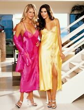 Shirley of Hollywood Women Size 8-10 Yellow Satin Nightdress Designer Lingerie