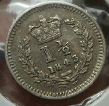 More details for victoria 1843 threehalfpence 1½d  used in colonies