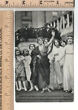 Suffrage Post Card LIBERTY & ATTENDANTS March 1913 SUFFRAGETTE'S TABLEAU Parade