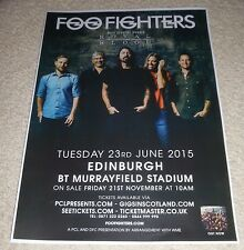 Foo Fighters CONCERT POSTER june 2015 rare UK live music show gig tour poster