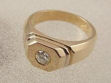 14K SOLITAIRE DIAMOND RING  14 KARAT GOLD 1/3 CARAT NON TRADITIONAL WEDDING BAND
