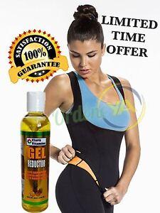 Hot Neoprene + 1 Gel Reductor Cami Redu Slim Control Faja Shaper Redushaper