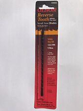 "Olson 5"" 130mm Plain Ended Reverse Scroll Saw Blades 12 Blades No.5   12.5tpi"