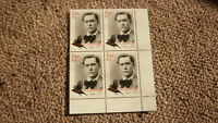 2017 IRELAND POST MINT STAMPS, IRELAND FRANCIS LEDWIDGE BLOCK OF 4 STAMPS MNH