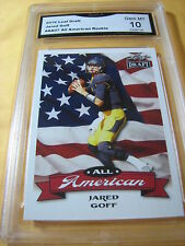 JARED GOFF CAL RAMS 2016 LEAF DRAFT ALL AMERICAN ROOKIE RC # AA07 GRADED 10