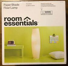 Paper Floor Lamp Gray (Lamp Only) - Room Essentials