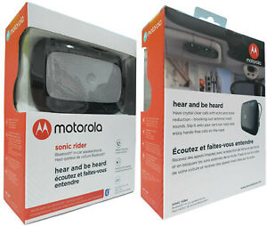 Motorola Sonic Rider TX550 Bluetooth Wireless In-Car Speakerphone 80 Hours Talk