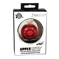 Musibytes APPLE BYTE * RED Mini Music Speaker NEW