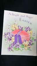 Vintage Easter Egg Greeting card c. 1940s by: A.M. Davis Co. British