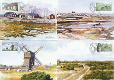 "Sweden 2003 FDC - Maxi Card no 212 - 215 - Set of 4 ""The Öland Plateau"" Cards"