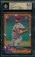 BGS 9.5 w/10 JORDAN HICKS 1st 2018 Bowman ORANGE Paper #/25 Rookie RC GEM MINT