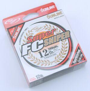 Sunline Super FC Sniper Fluorocarbon Fishing Line 12lb Test 200yd Natural Clear