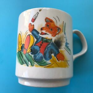 Vintage Basil Brush Cup  Owen /  Firming Staffordshire Potteries Ltd Height 8cm