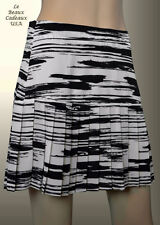 NEW$59.9 Banana Republic Women Black & White Pleated Skirt PETITE 2 P Dressy