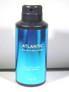 Bath Body Works Men's Collection ATLANTIC Body Spray Mist 3.7 Oz NEW Full Size