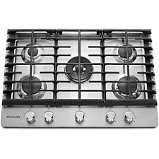 "Kitchenaid 30"" 5 Burner Cooktop, Model Kcgs 550Ess - Stainless Steel"