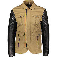 DSQUARED 2 Giacca con maniche in pelle trapuntato M IT50/UK40 Moto Biker