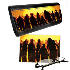 Zombie Theme Reading Glasses PictaLetather Case & Lens Cleaning Cloth