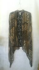 CATHERINES OVER TOP LACE CARDIGAN CHIFFON PRINT SIZE 1X