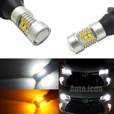Switchback 28-SMD LED Kit For 2015-up Toyota Camry Front Turn Signal Lights DRL