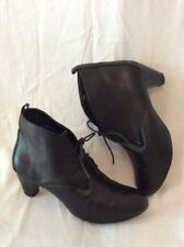 Good For The Sole Black Ankle Leather Boots Size 5
