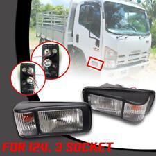 Side Marker Lights 12V. Pair For Isuzu ELF Truck NPR 150 NQR NMR NRR NLR 130