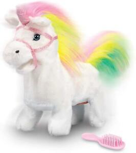 Tobar Animigos Rainbow Unicorn Moving Parts Walking Plush Soft Children Toy