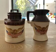 McCoy The Spirit Of Seventy Six Creamer And Sugar Canister Eagle American Flag