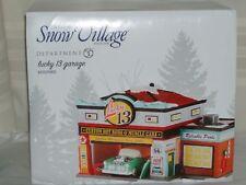 DEPARTMENT 56 The Original Snow Village LUCKY 13 GARAGE 4050985 NEW IN BOX